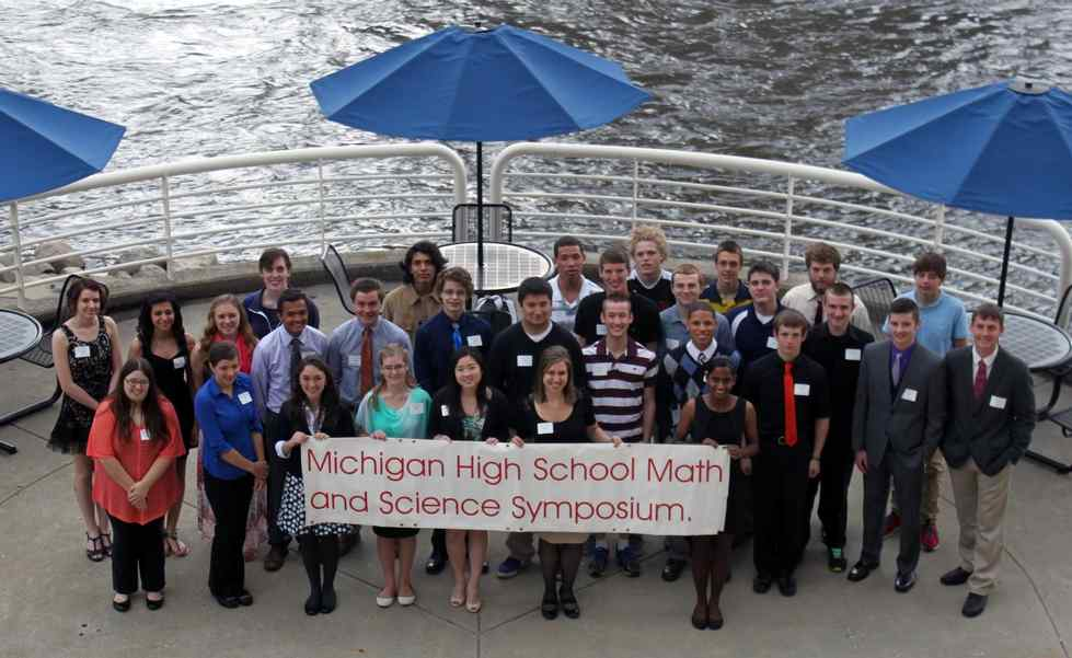2014 Participants of the Michigan High School Math and Science Symposium held at Eberhard Center, Grand Valley State University